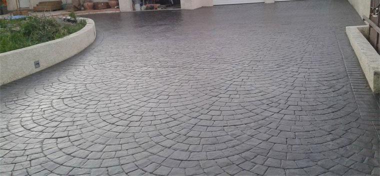 Dalle en beton imprime