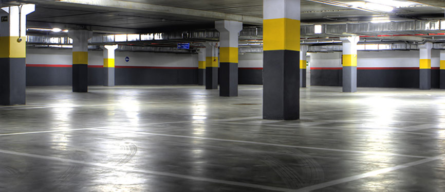 Dallage en beton pour parking avec quartz