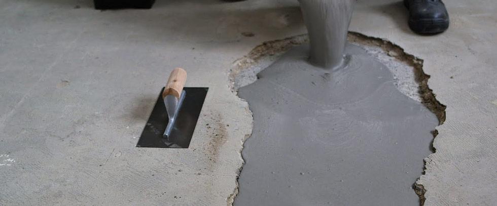 reparation avec barbotine ciment