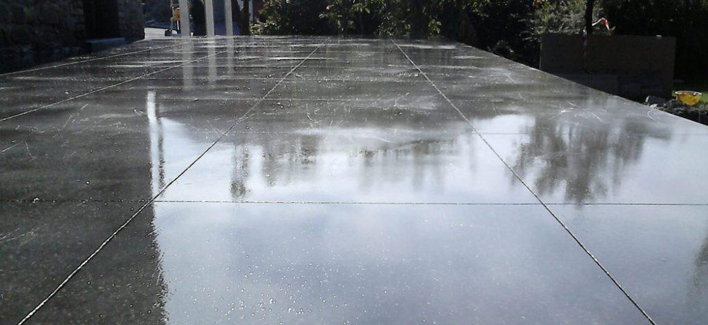 béton poli pour une terrasse exterieure