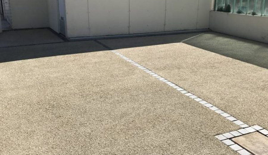 budget d'une terrasse en Béton drainant