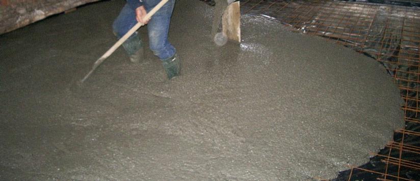 les armatures pour une dalle en beton
