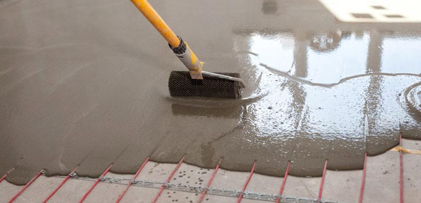 chape de ciment liquide
