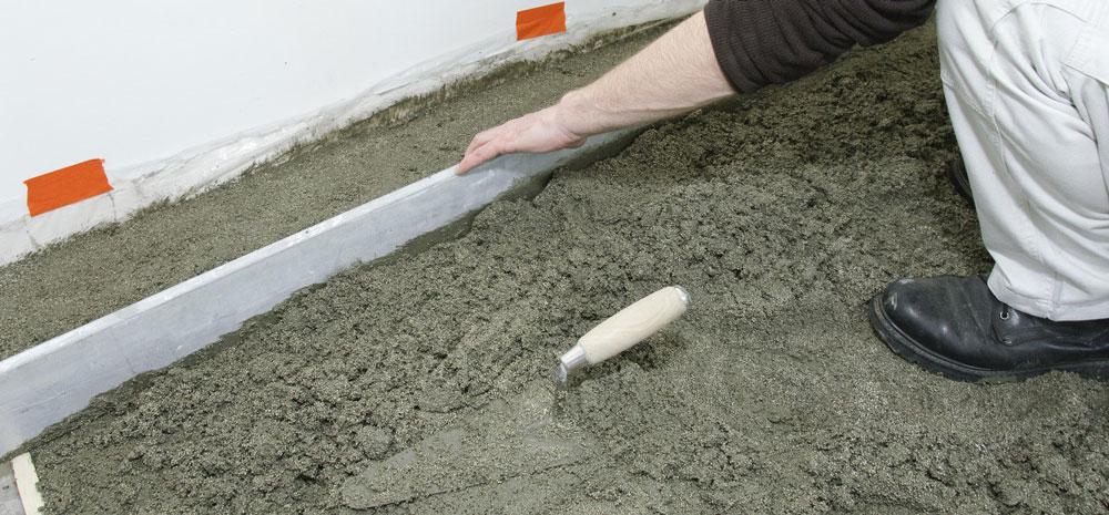 Chape ciment: Prix, Pose, Avantages, Usages.