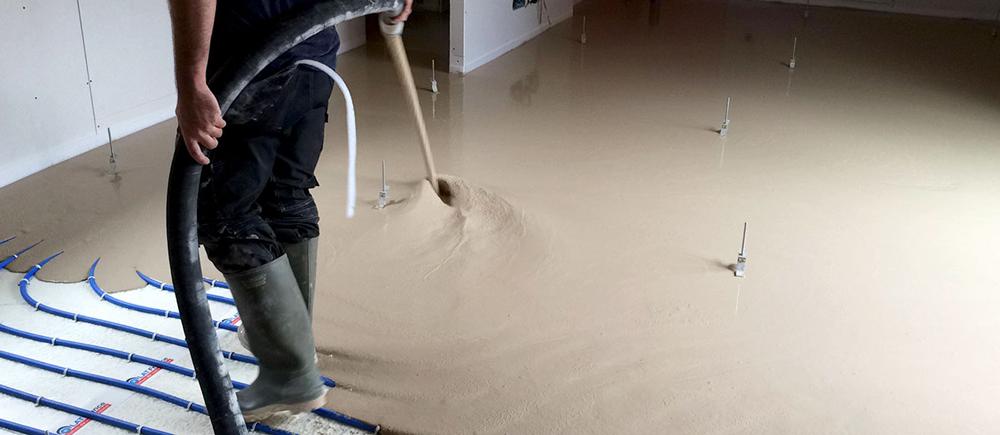 chape fluide base ciment