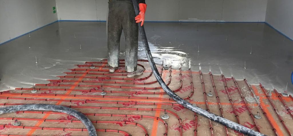 faire la chape fluide sur un plancher chauffant
