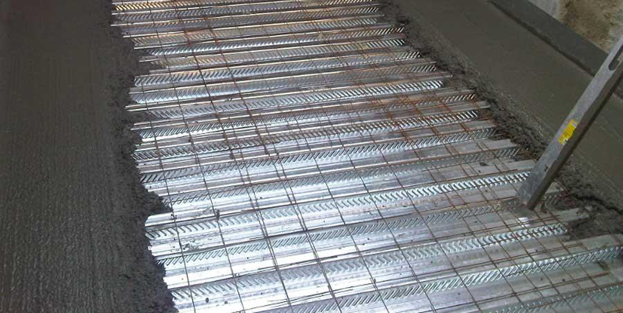 coulage beton sur plancher collaborant