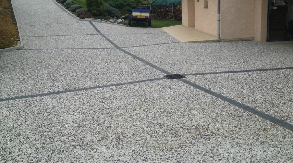 beton desactive pour sol de parking