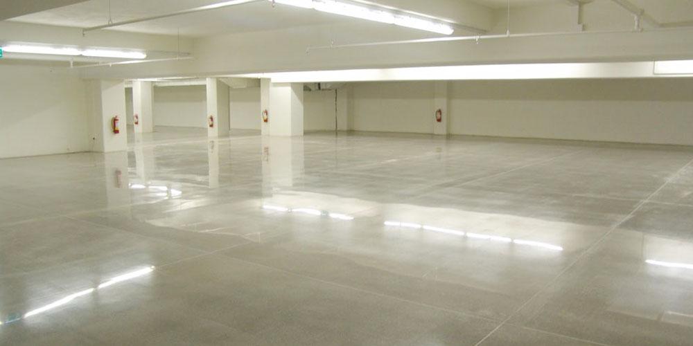 sols en béton lissé pour garage