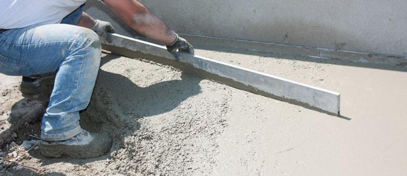 Chape en beton pour bâtiment