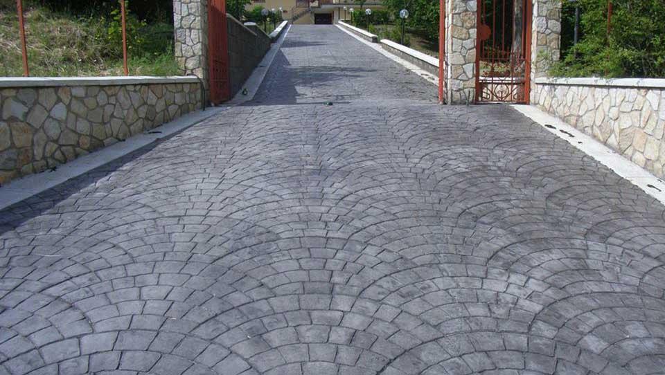 revêtement de sol en Béton imprimé pour l'extérieur