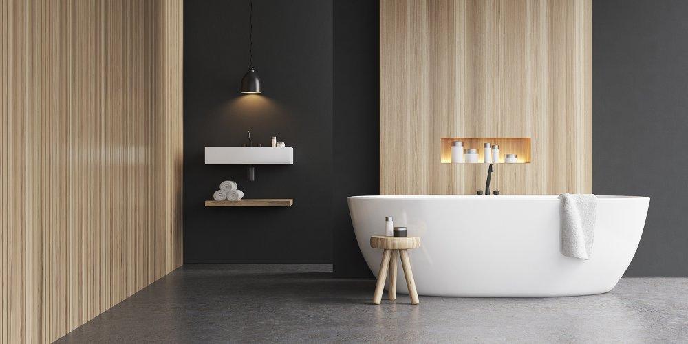 Revêtement de sol pour la salle de bain en Béton ciré