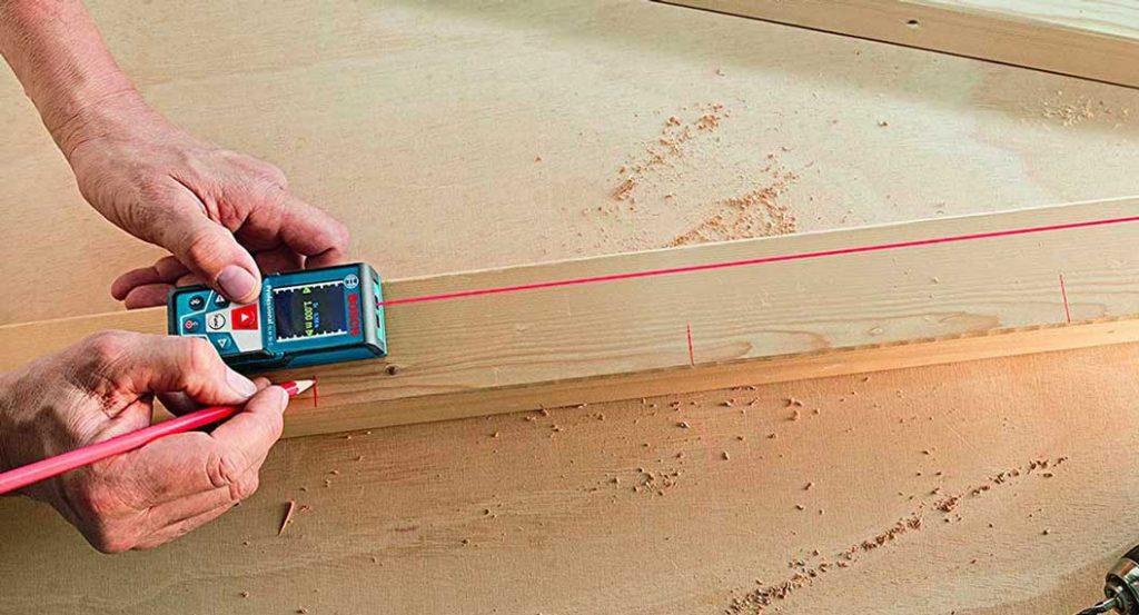 utilisation du télémètre laser