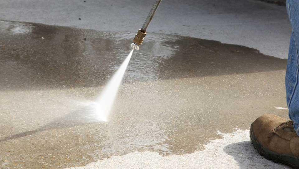 limpar um terraço de concreto com pressão